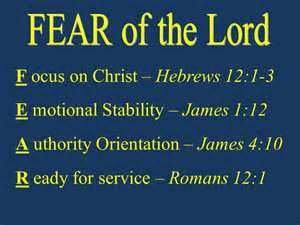 Fear of the Lord acrostic