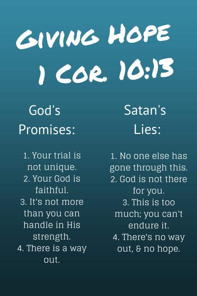 Giving Hope - 1 Cor. 10:13